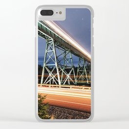 Rails in the Sky Clear iPhone Case