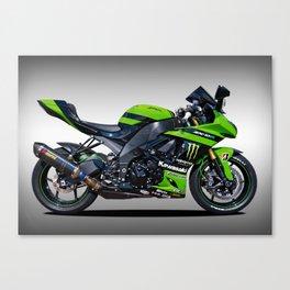 Kawasaki Motorbike Canvas Print