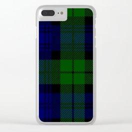 Scottish Campbell Tartan Pattern-Black Watch #2 Clear iPhone Case