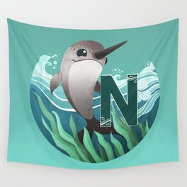 N is for Narwhal Wall Tapestry