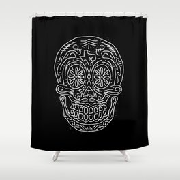 Texas Sugar Skull Shower Curtain