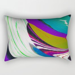 Twirl n Glitch Rectangular Pillow