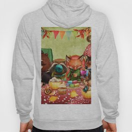 Woodland Friends at Teatime in Forest Hoody