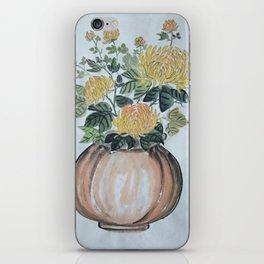 Chrysanthemum Flowers In The Vase iPhone Skin