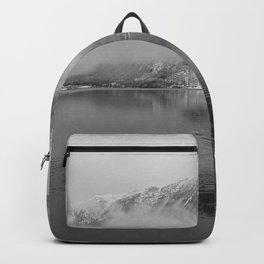 Cloudy day in the lake Backpack