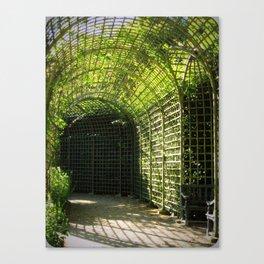 Under the garden arches of Versailles  Canvas Print