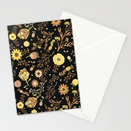 Golden Florals Stationery Cards