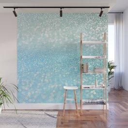 Mermaid Sea Foam Ocean Ombre Glitter Wall Mural