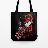 carnage Tote Bags featuring Carnage - Spider-man by SEANLAR94