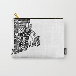 Typographic Rhode Island Carry-All Pouch