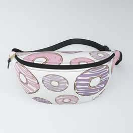 Pattern Of Donuts, Pink Donuts, Purple Donuts Fanny Pack