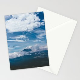 Blue Mountain View Hiking up Iztaccihutal Volcano, Mexico City Stationery Cards