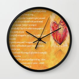 We Two Are One Prose Valentine Greeting Wall Clock