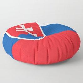 Slovakian Flag of Slovakia  Floor Pillow