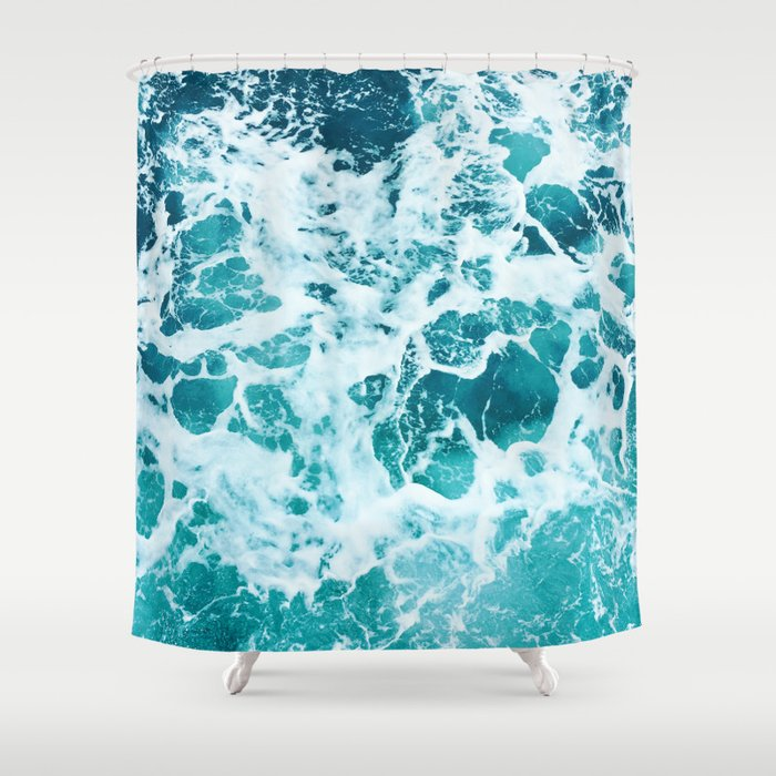 Ocean Splash IV Shower Curtain