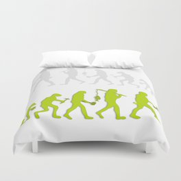 Evolution of Tennis Species Duvet Cover