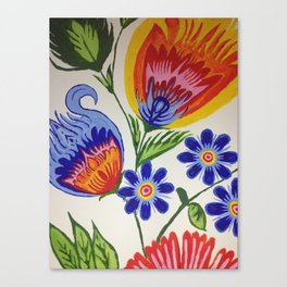 Flowers of life Canvas Print