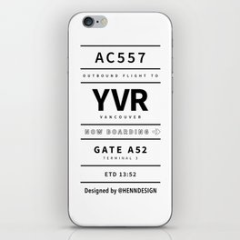 YVR white iPhone Skin
