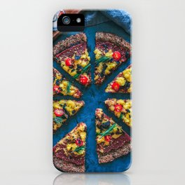 Cauliflower Vegan Pizza iPhone Case