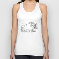mushrooms Tank Tops featuring Mushrooms by Alexandra Duma D.