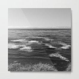 Sunset Cliffs Surfers Metal Print