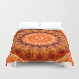 Mandala orange brown Duvet Cover