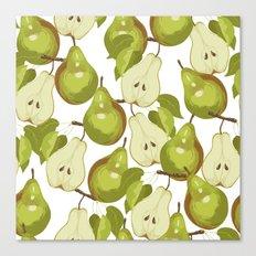 Pears Pattern Canvas Print