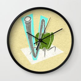 Vegetable Vacuum Cleaner V Wall Clock