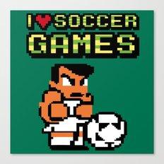 I Love Soccer Games Canvas Print