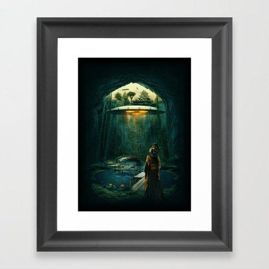 green layer Framed Art Print