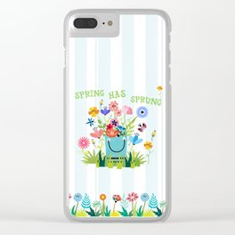 Spring Has Sprung Cuteness In The Garden Clear iPhone Case
