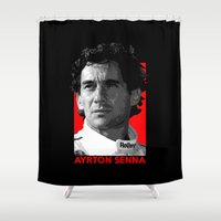 senna Shower Curtains featuring Formula One - Ayrton Senna by Vehicle