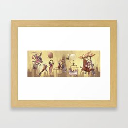 Flying Machines Framed Art Print