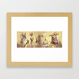 Flying Machines Framed Art Print