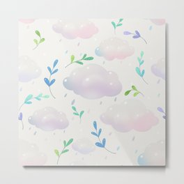 April clouds Metal Print