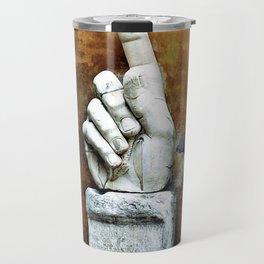 Colossus Constantine Hand - Museum of Rome Travel Mug
