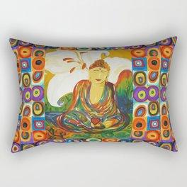 Buddha Circles Rectangular Pillow