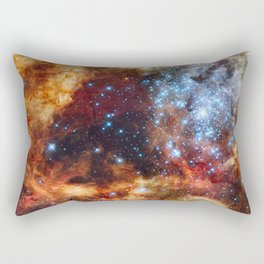 Grand star-forming region R136 in Tarantula Nebula  (NASA/ESA/Hubble) Rectangular Pillow