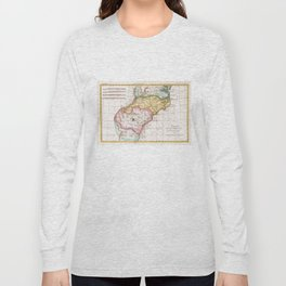 Vintage Map of The Carolinas (1780) Long Sleeve T-shirt