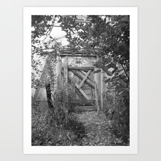 "Door to the deep down ""LIME"" Art Print"