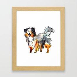 Hans - Dog Watercolour Framed Art Print