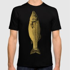 A Fish MEDIUM Black Mens Fitted Tee