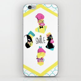 Hipster Smile iPhone Skin