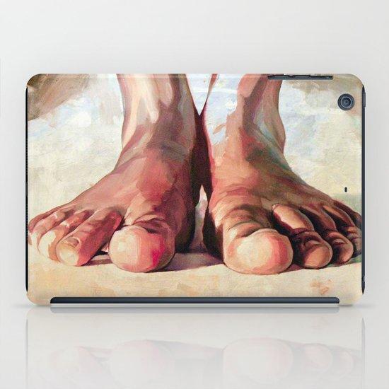Pensando con los pies iPad Case
