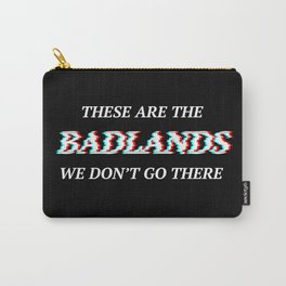 Halsey 3D Glitch Badlands Quote Carry-All Pouch