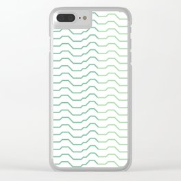 Ombre Waves Clear iPhone Case