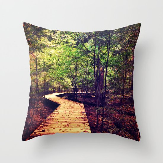 Don't Stop Walking Throw Pillow