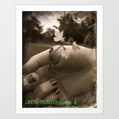 Touching Beauty Art Print