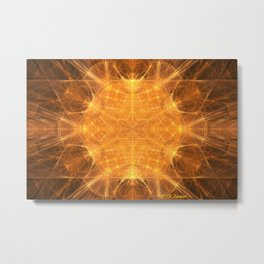 UFO Magnetic Fields Metal Print