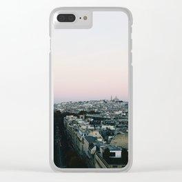 View of Sacré-Cœur from the Arc de Triomphe Clear iPhone Case